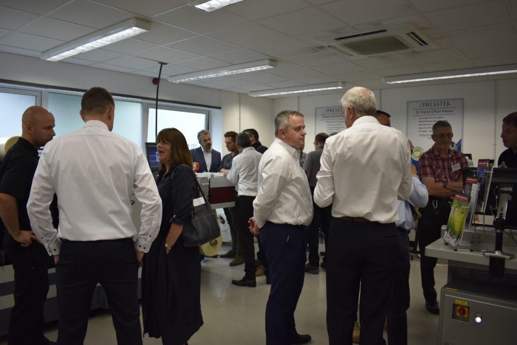 Attendees in demo room at London Open House