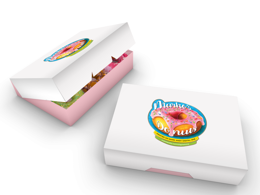 Donut boxes with prime label