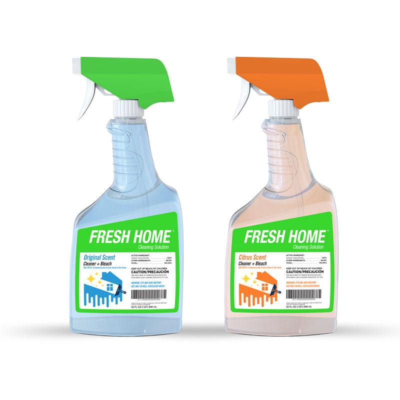 Spray bottle labels