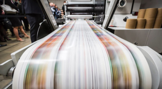 capture of high speed printing on Mark Andy Printer